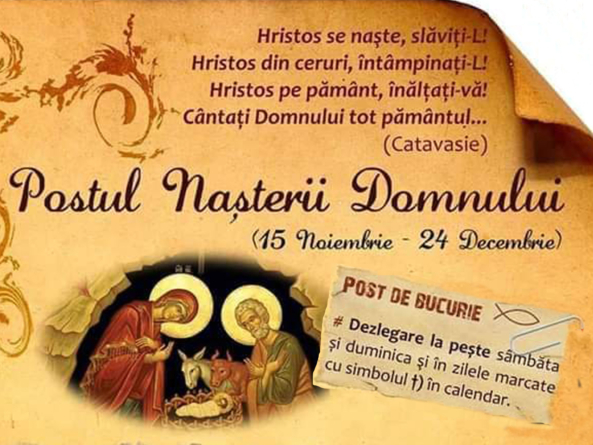 POSTUL NAȘTERII DOMNULUI